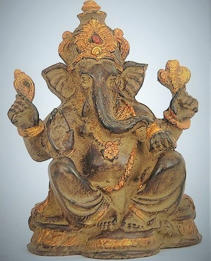 Ganesha Brown Antique 17cm