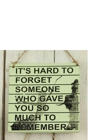 Text: IT´S HARD TO FORGET SOMEONE WHO GAVE YOU..