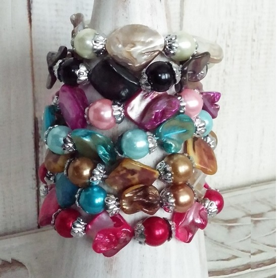 Armband x(D001) Mother of Pearls One