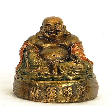 Buddha Happy Gold Color 7cm
