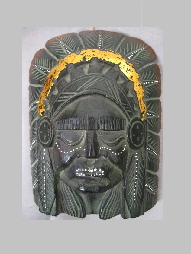 Indian Mask i trä