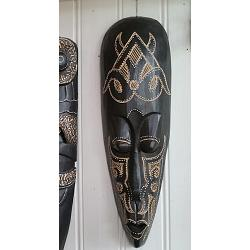 Mask Lombok Carved 50cm Svart