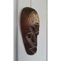 Mask Lombok Resin 20cm Brun